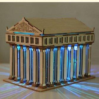 DIY Tempel van Zeus 3D Puzzel van Hout