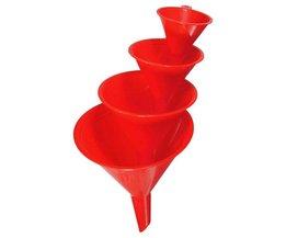 Plastic Trechter 4Stuks