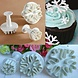 Mal voor Dessert Decoratie Sneeuwvlok (3 Stuks)