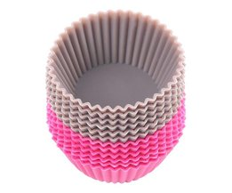 12 Siliconen Cupcakevormen