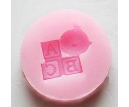Siliconen Cakevorm ABC met Baby