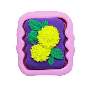 Mini Cakevorm met Bloemreliëf