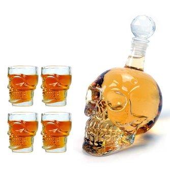 Schedel Whiskey Glazen
