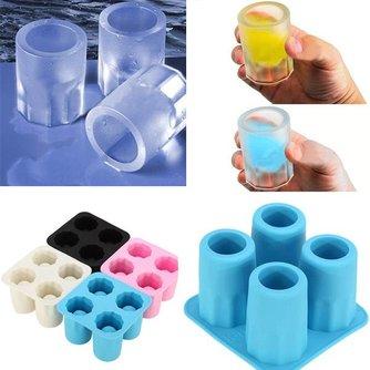 IJsvorm van Siliconen voor 4 Shotglaasjes