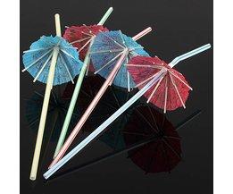 Cocktail Paraplu Rietjes (10 Stuks)