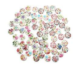100 Houten Knopen