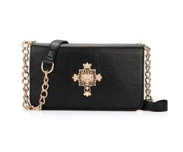 Dames  Tasje met Kruisbeeld en Gouden Strap