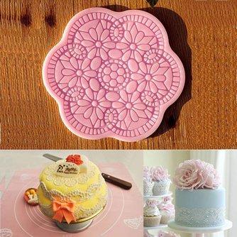 Mandala Siliconen Mal voor Dessert Decoratie