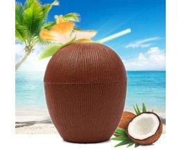 Kokosnoot Beker met Rietje (450 mL)