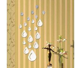 Stickers voor Muur Regendruppels