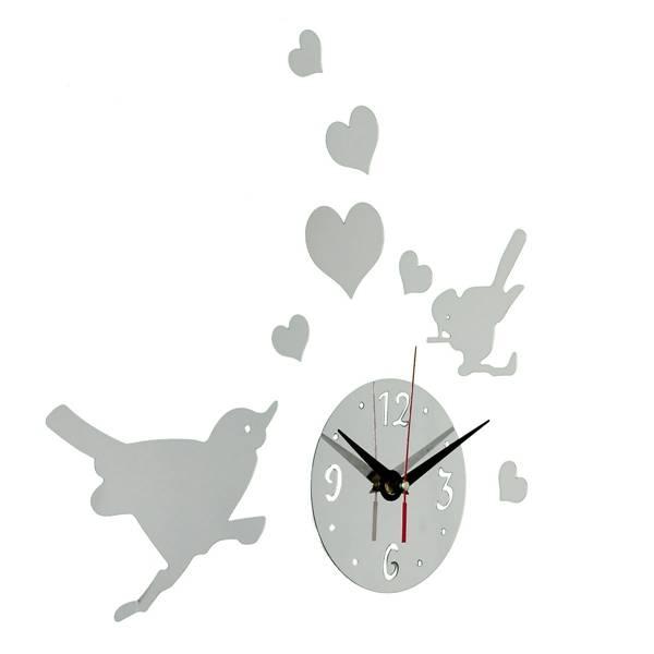 Muursticker Klok & Vogels