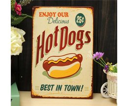 Retro Reclameborden Hot Dogs
