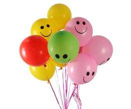 Ballonnen met Smileys 100 Stuks