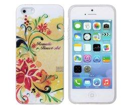 Hoes met Bloemenprint voor iPhone 5 & 5S