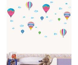 Luchtballon Muursticker voor de Kinderkamer
