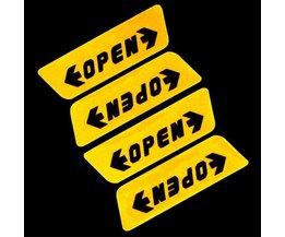 """Sticker voor Autodeur met Tekst """"Open"""""""