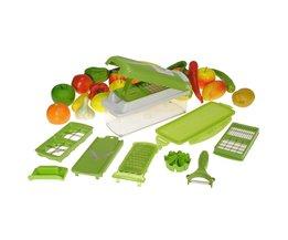 Complete 9-Delige Set voor het Snijden van Fruit en Groente