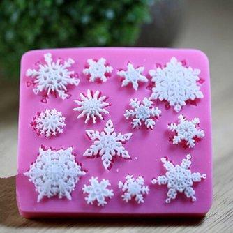 3D Siliconen Cakevorm met Sneeuwvlokken