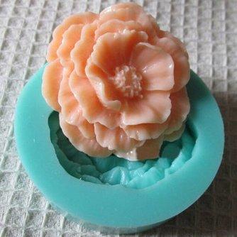 3D Pioenroos Cakevorm van Siliconen