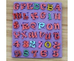 Siliconen Mal Alfabet en Nummers