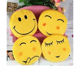 Stoffen Smiley Portemonnee