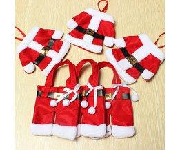 Decoratie Voor Bestek Kerstmannetjes 3 Stuks