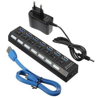 USB Stekkerdoos met 7 Poorten
