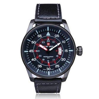 Militair Horloge Met Leren Gordel
