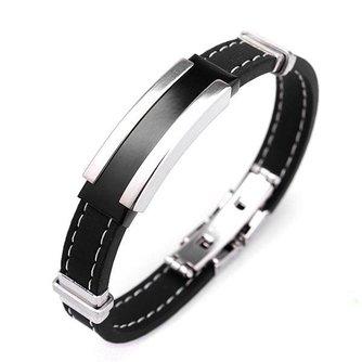 Zwartzilveren Armband Voor Mannen