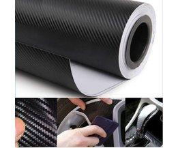 Carbon Folie voor de Auto 3D Zelfklevend 60x152cm