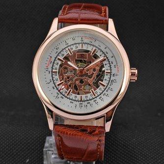 Forsining A708 Mechanisch Horloge Roze-Goudkleurig