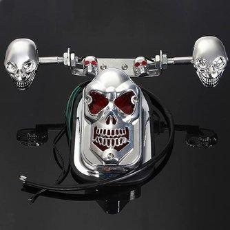 Achterlicht voor de Motor en ATV Quad in Doodshoofdvorm