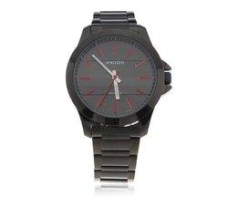 Wilon 1070 Quartz Horloge met Roestvrijstalen Band voor Heren