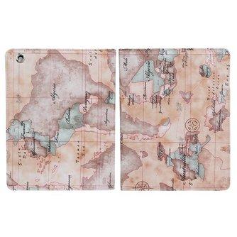 Hoesje voor iPad 2,3 en 4 met Wereldkaart-design
