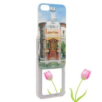 Hoesjes voor iPhone 5 met Wodkafles-design