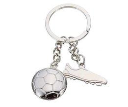 Sleutelhanger Voetbal World Cup Zilverkleurig