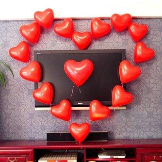 Hartvormige Ballonnen 100 Stuks