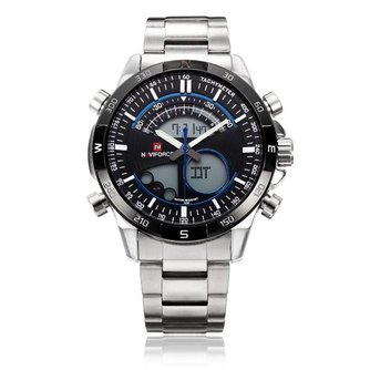 Naviforce Heren Horloge Dual Display