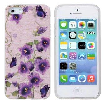 Telefoonhoesje voor iPhone 5 & 5S met Bloemendesign