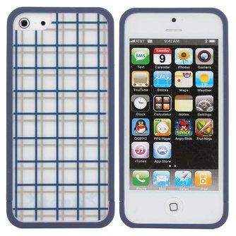 Hoesje Voor iPhone 5 Met Roosterprint