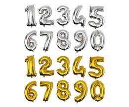 Nummer Ballon in Goud of Zilver