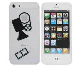 Hoesje voor iPhone 5 & 5S met Filmcamera Design