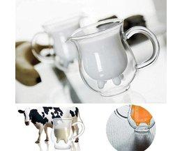 Dubbel Glas Met Koeienuier