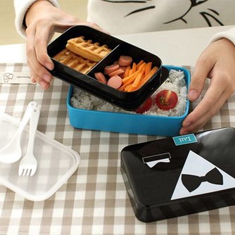 Handige Lunchbox met Vakjes 730ml
