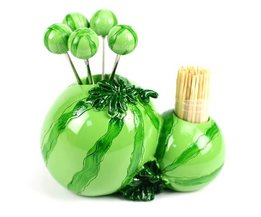 Tafelaccessoires Meloen met Fruitvorkjes en Tandenstokers