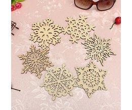 Prachtige Sneeuwvlok Onderzetter van Hout
