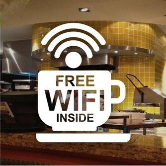 Free Wifi Inside Sticker voor op het Raam