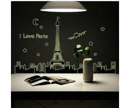 Sticker Met Skyline Parijs
