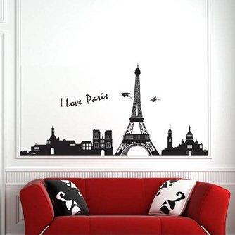 Sticker Met Parijs Skyline