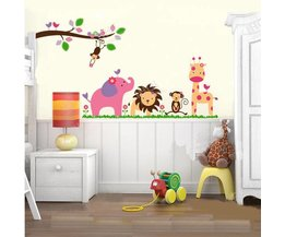 Muursticker Babykamer van Jungle
